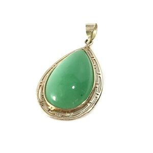 Jewelry - 14k Jade drop pendant